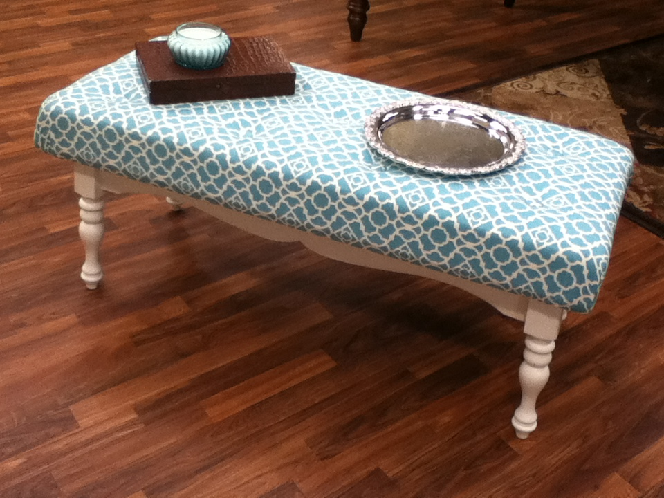Coffee Table Ottoman Upcycling A Flea Market Find The