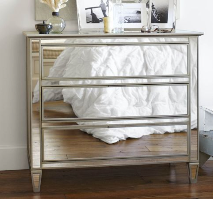 Diy mirrored dresser the tamara blog Mirror glass furniture