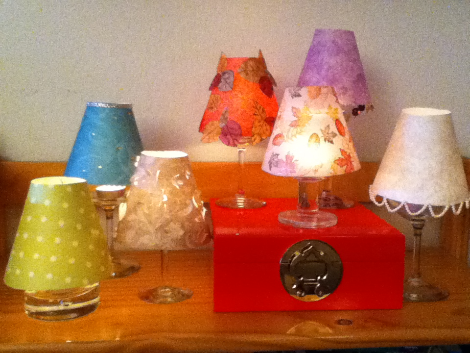 Wine Glass Lampshades an update! The Tamara Blog