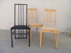 Three ugly chairs become one beautiful bench!