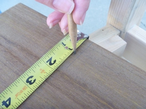 Transfering measurement to wood