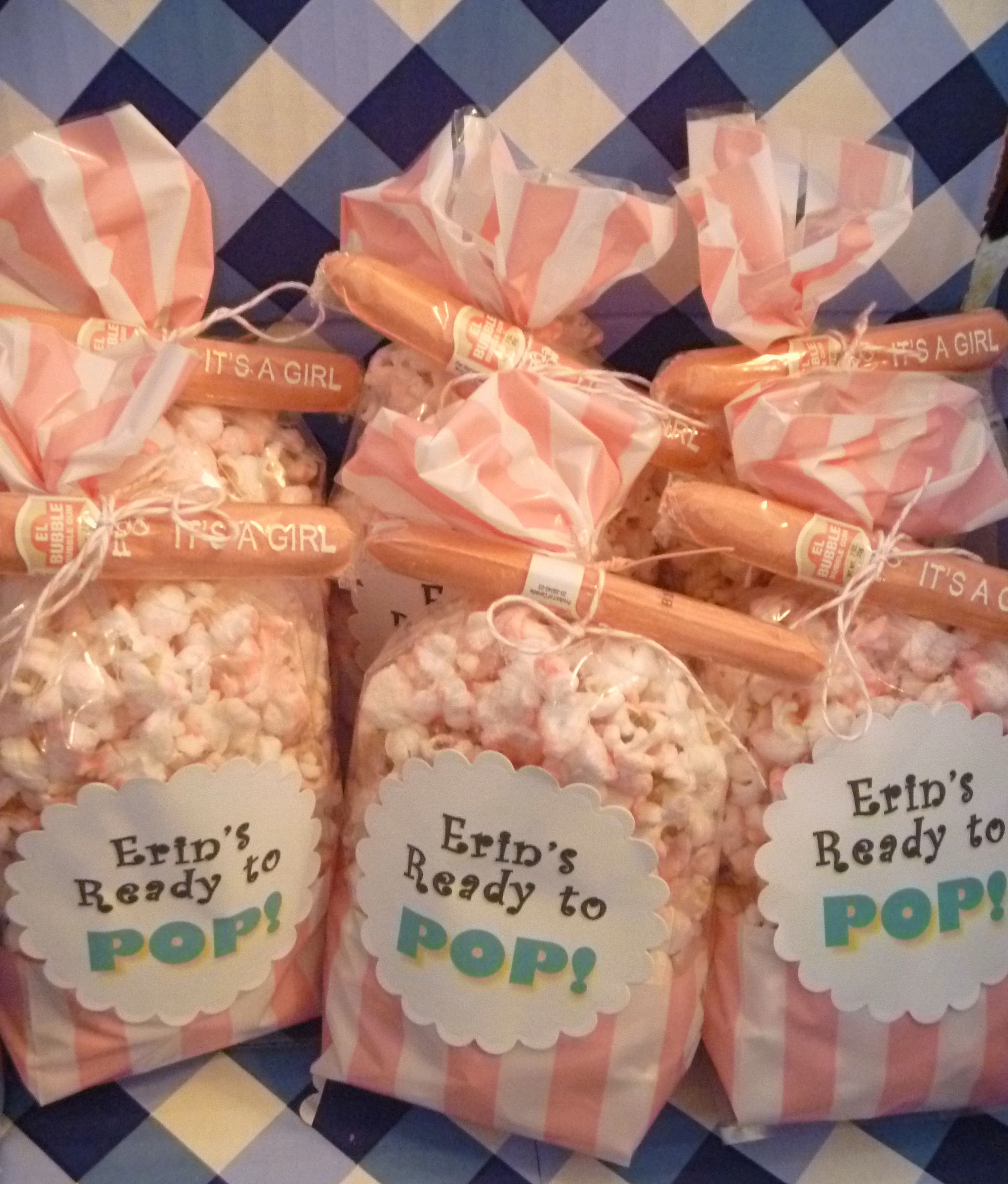 Salty Sweet Delicious Ready To Pop Popcorn Baby Shower Favors