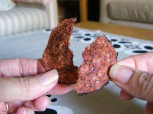 Crispy Baked Salami Cracker