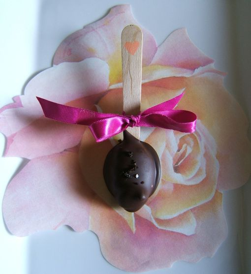 Truffle spoon on rose