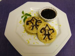Mardi Gras Pancakes with Mint