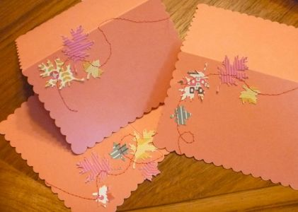 Stitched place cards