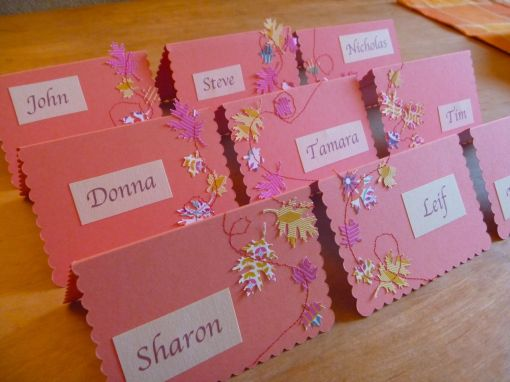 Cute Stitched Place Cards, The Tamara Blog