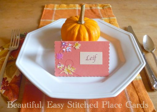 Stitched Place Card -- The Tamara Blog