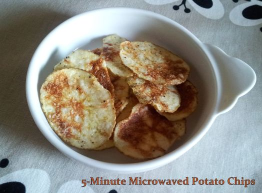 5 Minute Microwaved Potato Chips