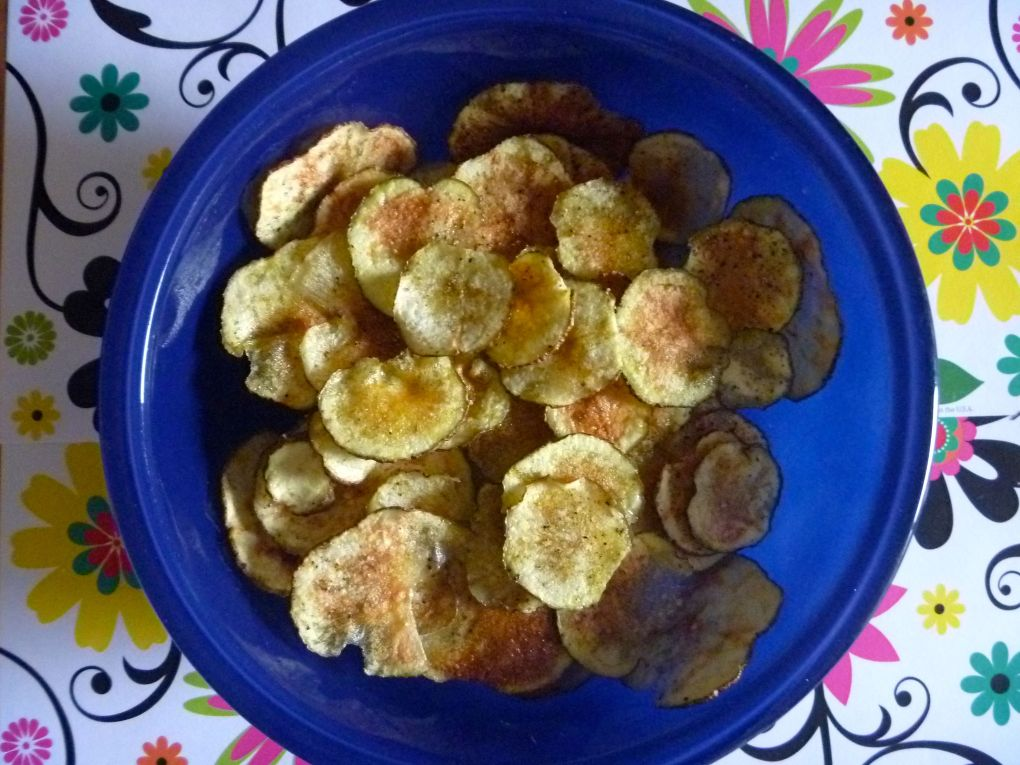 5 minute microwaved potato chips The Tamara Blog