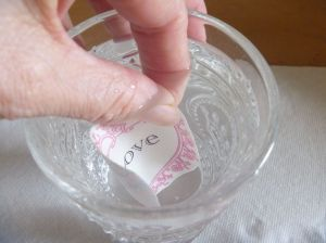 Decal in water