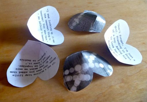 Dimensional Hearts with Movie Quotes